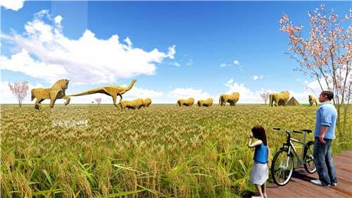 在生态的湿地环境,田园化的农业景观体系下, 形成盐的娱乐,休闲,度假